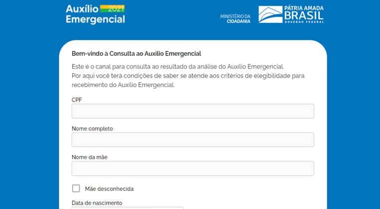 Consulta Auxílio Emergencial Dataprev