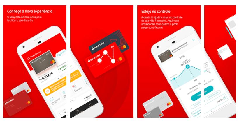 2 via fatura do cartão santander via app